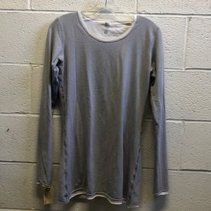Lululemon white reversible to gray l/s top sz 8